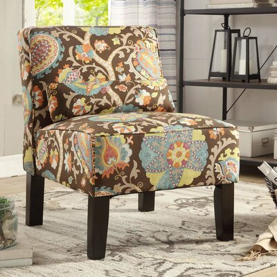 Dafane Floral Slipper Chair