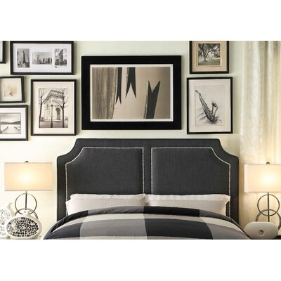 Rauscher Queen Upholstered Panel Headboard Upholstery: Charcoal