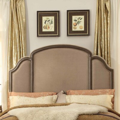 Ricca Queen Upholstered Panel Headboard Upholstery: Mocha
