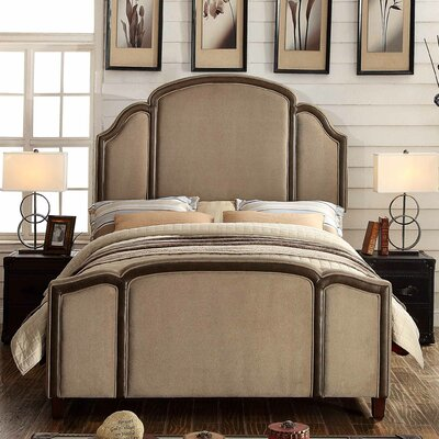 Ricca Queen Upholstered Panel Bed Color: Mocha