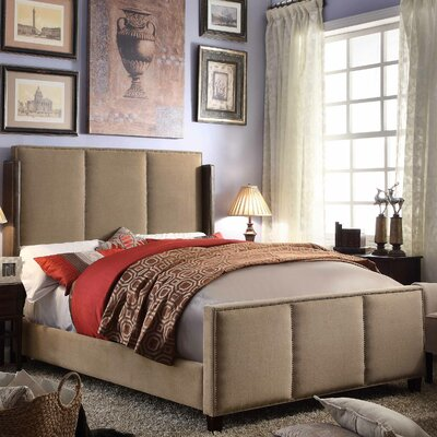 Fresco Queen Upholstered Panel Bed Upholstery: Mocha