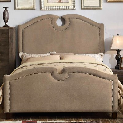 Elio Queen Upholstered Panel Bed Upholstery: Mocha