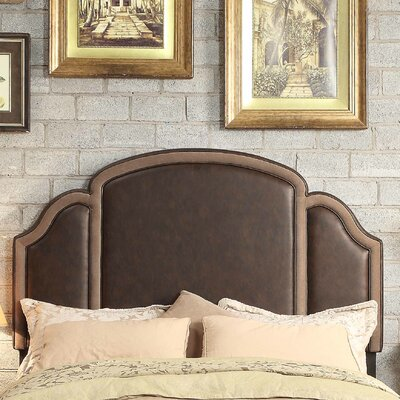 Ricca Queen Upholstered Panel Headboard Upholstery: Espresso