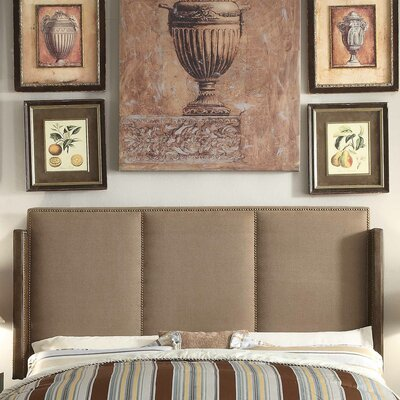 Fresco Queen Upholstered Wingback Headboard Upholstery: Mocha