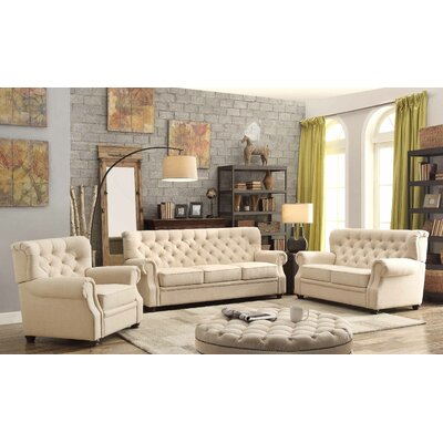 Asaro 3 Piece Living Room Set