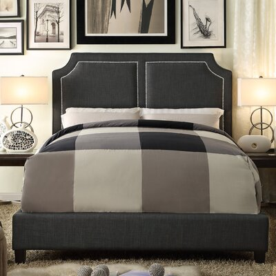 Sanibel Queen Upholstered Panel Bed Upholstery: Charcoal