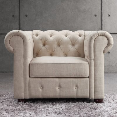 Garcia Chesterfield Chair Finish: Beige