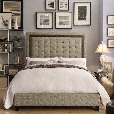Rawley Queen Upholstered Panel Bed Color: Caf�