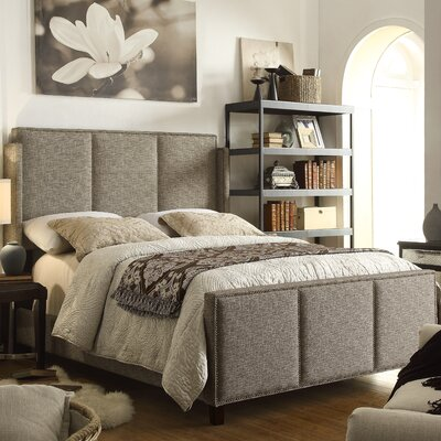Fresco Queen Upholstered Panel Bed Upholstery: Caf�