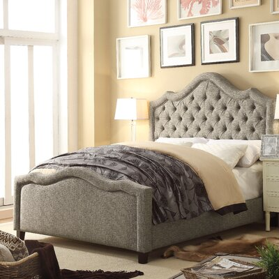 Alisa Queen Upholstered Panel Bed Upholstery: Gray