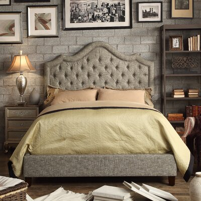 Wick, Somerset Queen Upholstered Panel Bed Color: Gray