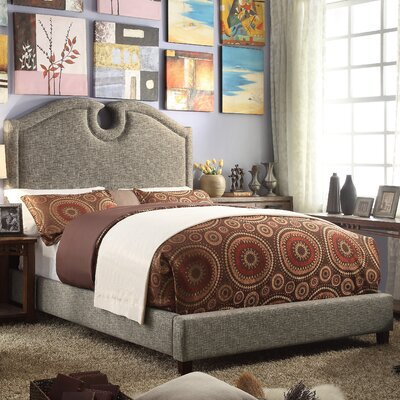 Elio Queen Upholstered Panel Bed Upholstery: Caf�