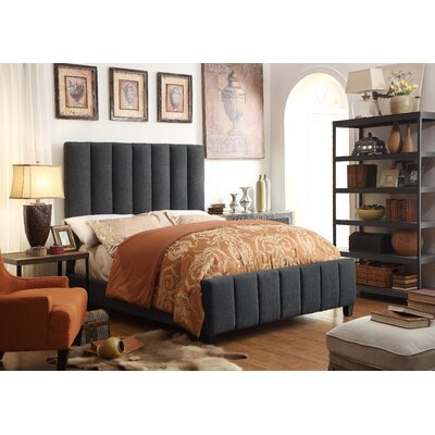 Isabel Queen Upholstered Panel Bed Upholstery: Charcoal
