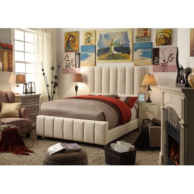 Mcmaster Queen Upholstered Panel Bed Color: Beige