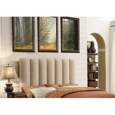 Isabel Queen Upholstered Panel Headboard Upholstery: Beige