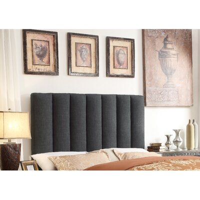 Isabel Queen Upholstered Panel Headboard Upholstery: Charcoal
