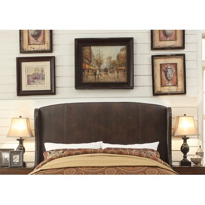 Chavelle Queen Upholstered Wingback Headboard Upholstery: Espresso