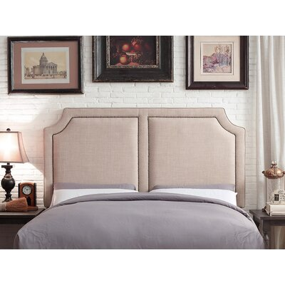 Rauscher Queen Upholstered Panel Headboard Upholstery: Beige