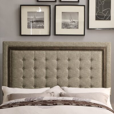 Hidalgo Queen Upholstery Panel Headboard Upholstery: Beige