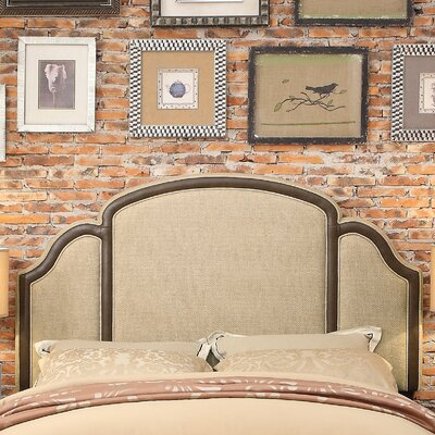 Ricca Queen Upholstered Panel Headboard Upholstery: Beige