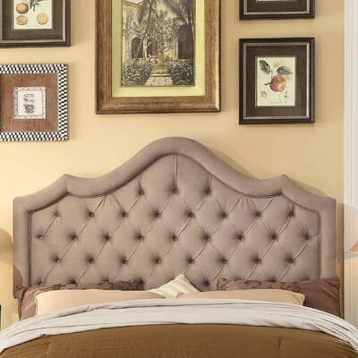 Alisa Queen Upholstered Panel Headboard Upholstery: Beige