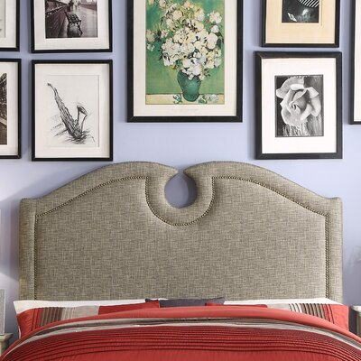 Rawlinson Queen Upholstered Panel Headboard Upholstery: Caf�