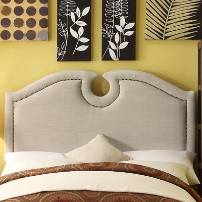 Eilo Queen Upholstered Panel Headboard Upholstery: Beige