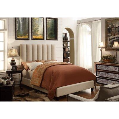 Mcmaster Queen Upholstered Platform Bed Color: Beige