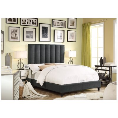 Isabel Queen Upholstered Platform Bed Upholstery: Charcoal