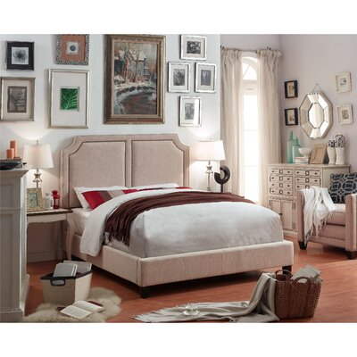 Rauscher Queen Upholstered Panel Bed Color: Beige