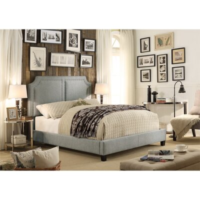 Rauscher Queen Upholstered Panel Bed Color: Gray
