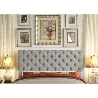 Calia Queen Upholstered Panel Bed Color: Gray