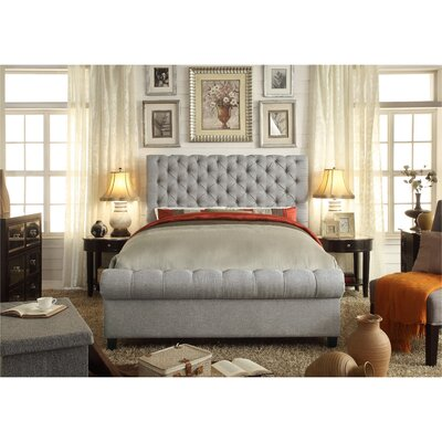Calia Queen Upholstered Panel Bed Upholstery: Gray
