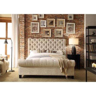 Calia Queen Upholstered Panel Bed Upholstery: Beige