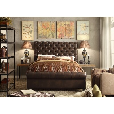 Calia Queen Upholstered Panel Bed