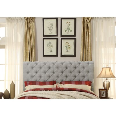 Calia Tufted Upholstered Panel Headboard Upholstery: Fabric -  Gray