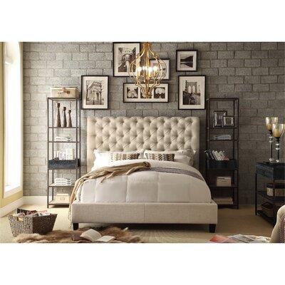 Calia Upholstered Queen Platform Bed Upholstery: Beige