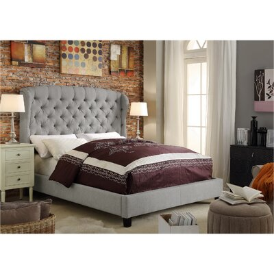 Felisa Upholstered Platform Bed Upholstery: Gray, Size: Queen