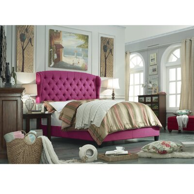 Felisa Upholstered Platform Bed Color: Pink, Size: Queen