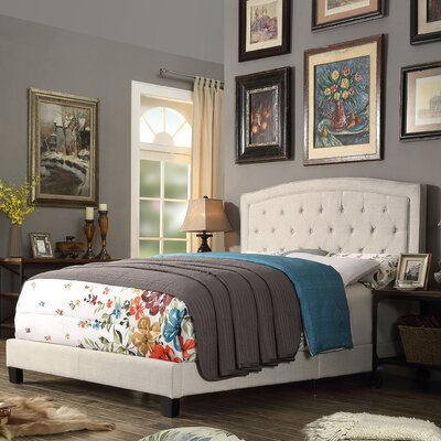 Gabriel Upholstered Panel Bed Color: Beige, Size: Twin