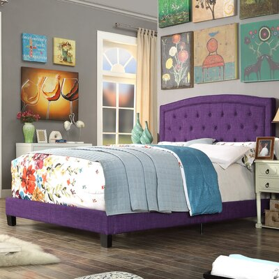 Gabriel Upholstered Panel Bed Color: Radiant Violet, Size: Queen