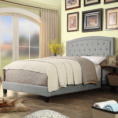 Gabriel Upholstered Panel Bed Color: Gray, Size: Full