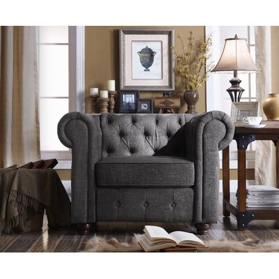Garcia Chesterfield Chair Finish: Charcoal