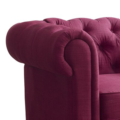 Garcia Chesterfield Chair Finish: French Burgundy
