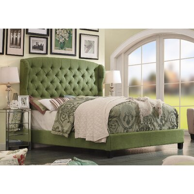 Felisa Upholstered Platform Bed Color: Green, Size: Queen