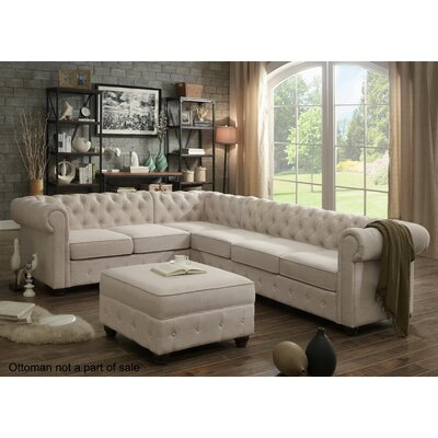 Garcia Sectional Upholstery: Beige