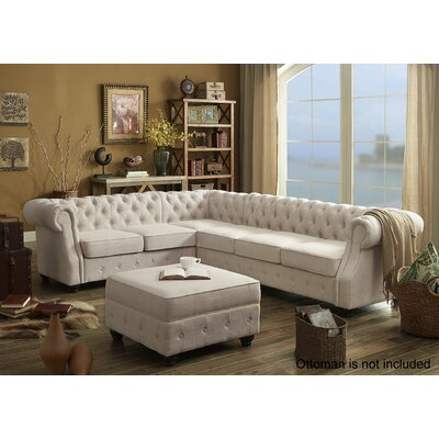 Olivia Sectional Collection Upholstery: Beige