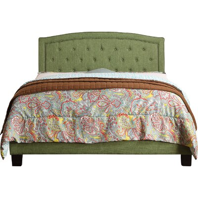Gabriel Upholstered Panel Bed Size: Twin, Upholstery: Natural Olive