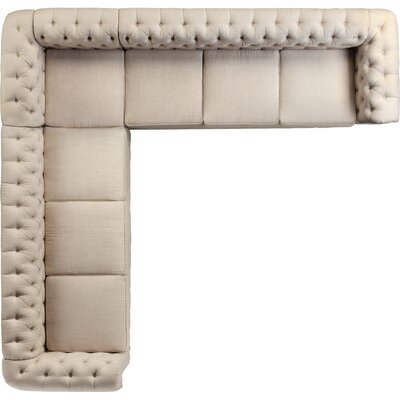 Garcia Sectional Color: Beige, Orientation: Left Hand Facing