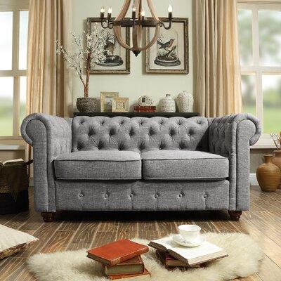 Garcia Loveseat Upholstery: Gray
